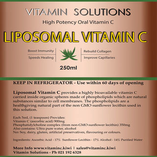 Liposomal Vitamin C - GMO and Soy Free - 250ml